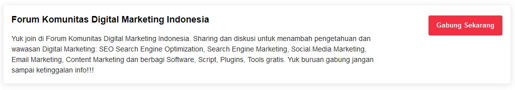 Forum Komunitas Digital Marketing Indonesia